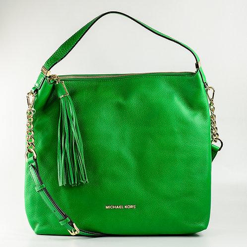 MICHAEL KORS | Large Bedford Tassle Pebbled Shoulder Bag