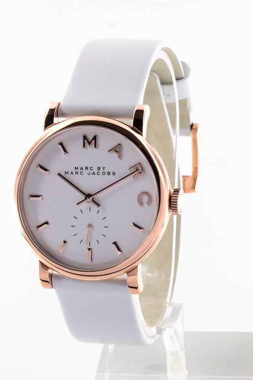 MARC JACOBS   Baker White Dial White Leather Ladies Watch MBM1283