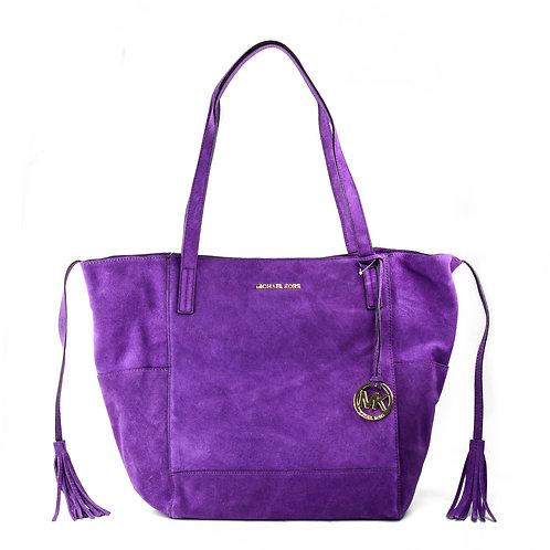 MICHAEL KORS | Ashbury Suede Extra-Large Violet Shoulder Bag