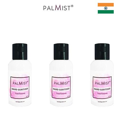 PALMIST - 免洗80%酒精搓手液50ml Tizuka香味 3枝裝
