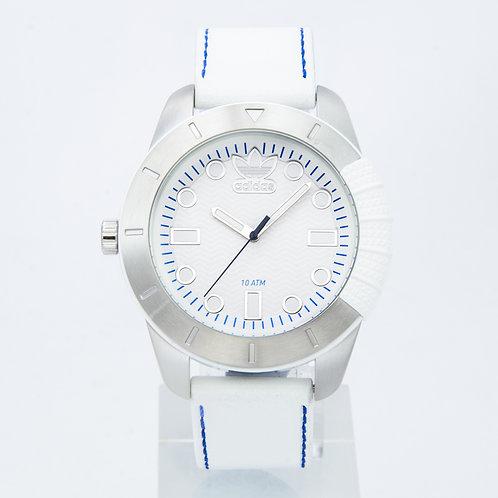 ADIDAS | Originals White Leather Strap Watch