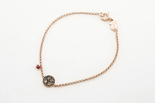 TOUS | Pink Silver Motif Bracelet with Spinel and Ruby
