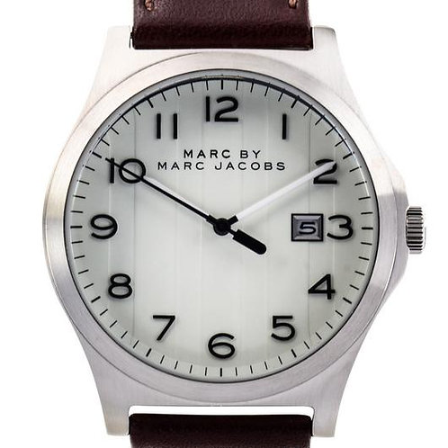 Marc by Marc Jacob | Jimmy White Dial Brown Leather Men's Watch