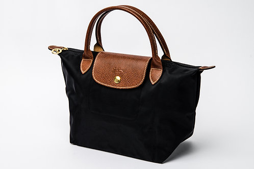 LONGCHAMP   Le Pliage Short Handle Bag Black (Small)