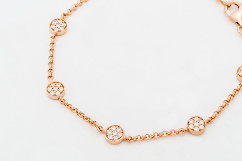 THOMAS SABO | White 925 Sterling Silver Gold Plated Rose Gold