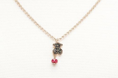 TOUS | Rose Vermeil Silver Motif Necklace