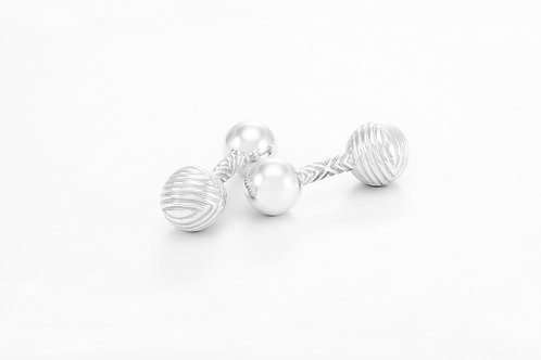TIFFANY & Co. |  Textured Barbell Cuff Links