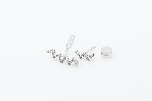 APM Monaco. | UP AND DOWN Silver Up And Down Underlobe Earring