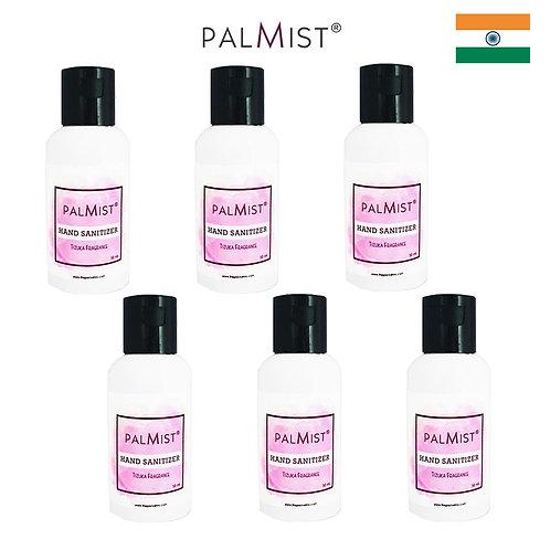 PALMIST - 免洗80%酒精搓手液50ml Tizuka香味 6枝裝