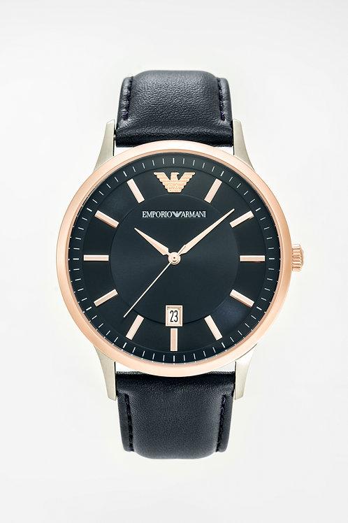 Emporio Armani | Mens Blue Leather Watch