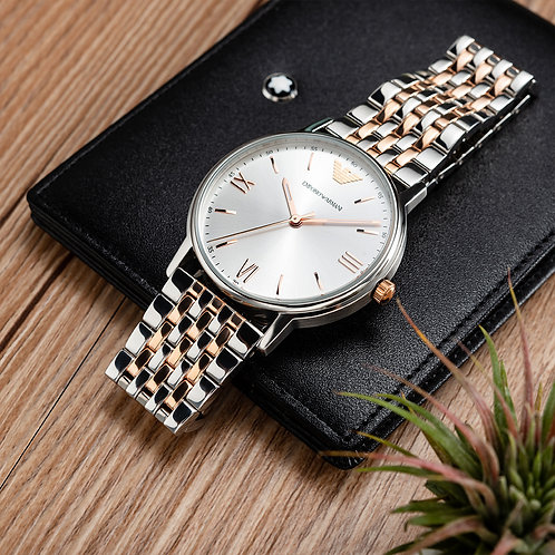 Emporio Armani – 羅馬時標不銹鋼時尚手錶 41mm