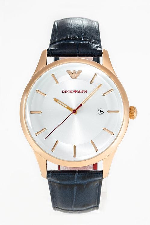 Emporio Armani | Mens Navy Leather Watch
