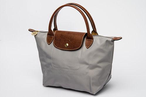 LONGCHAMP | Le Pliage Nylon Short Handle Bag Grey (Small)