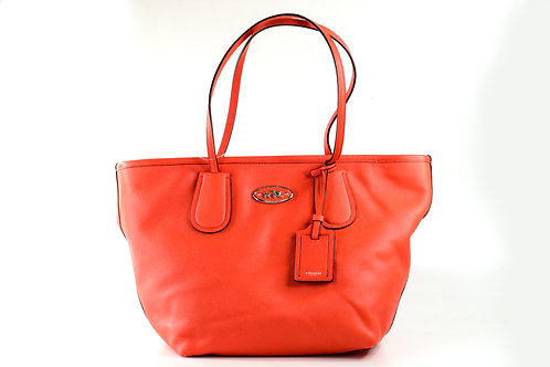 COACH | Leather Tote Bag Coral 33915 SV/CO