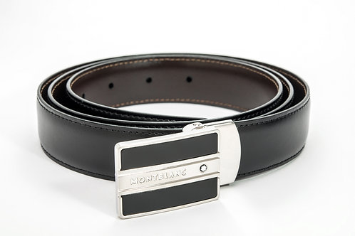 MONTBLANC | Contemporary Reversible Black/Brown Leather Belt 38156