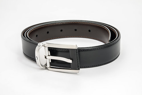 MONTBLANC | Contemporary Reversible Black/Brown Leather Belt 38158