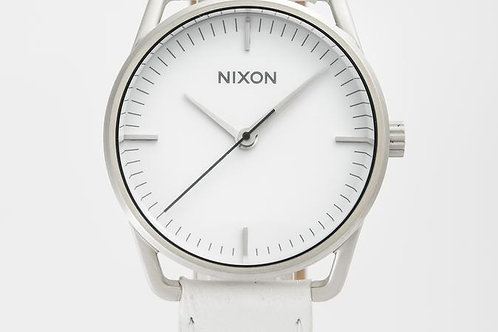 Nixon | The Mellor White/ Leather Watch