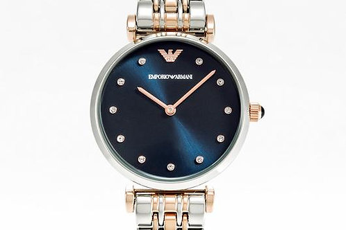 Emporio Armani | Gianni T-Bar Two-Tone Watch