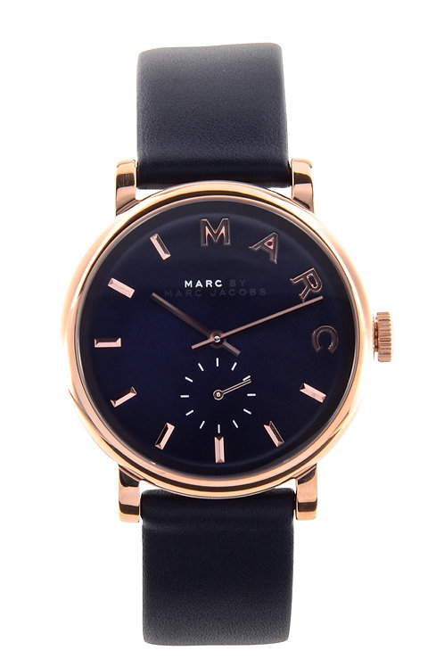 MARC JACOBS | Baker Navy Dial Navy Leather Ladies Watch MBM1329