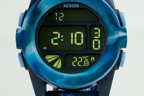 Nixon   The Unit Digital/ Camouflage Blue Rubber Watch