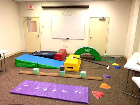 Nook Sports joined us and set up this fun play area for kids.