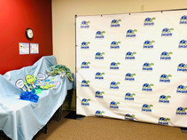 Kids could play and take pictures at our Turtle Photo Booth.