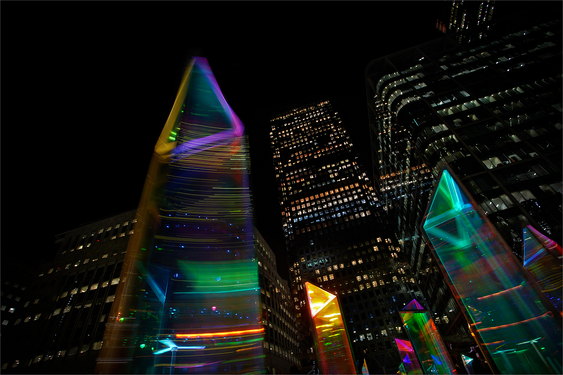 Spinning Light Towers