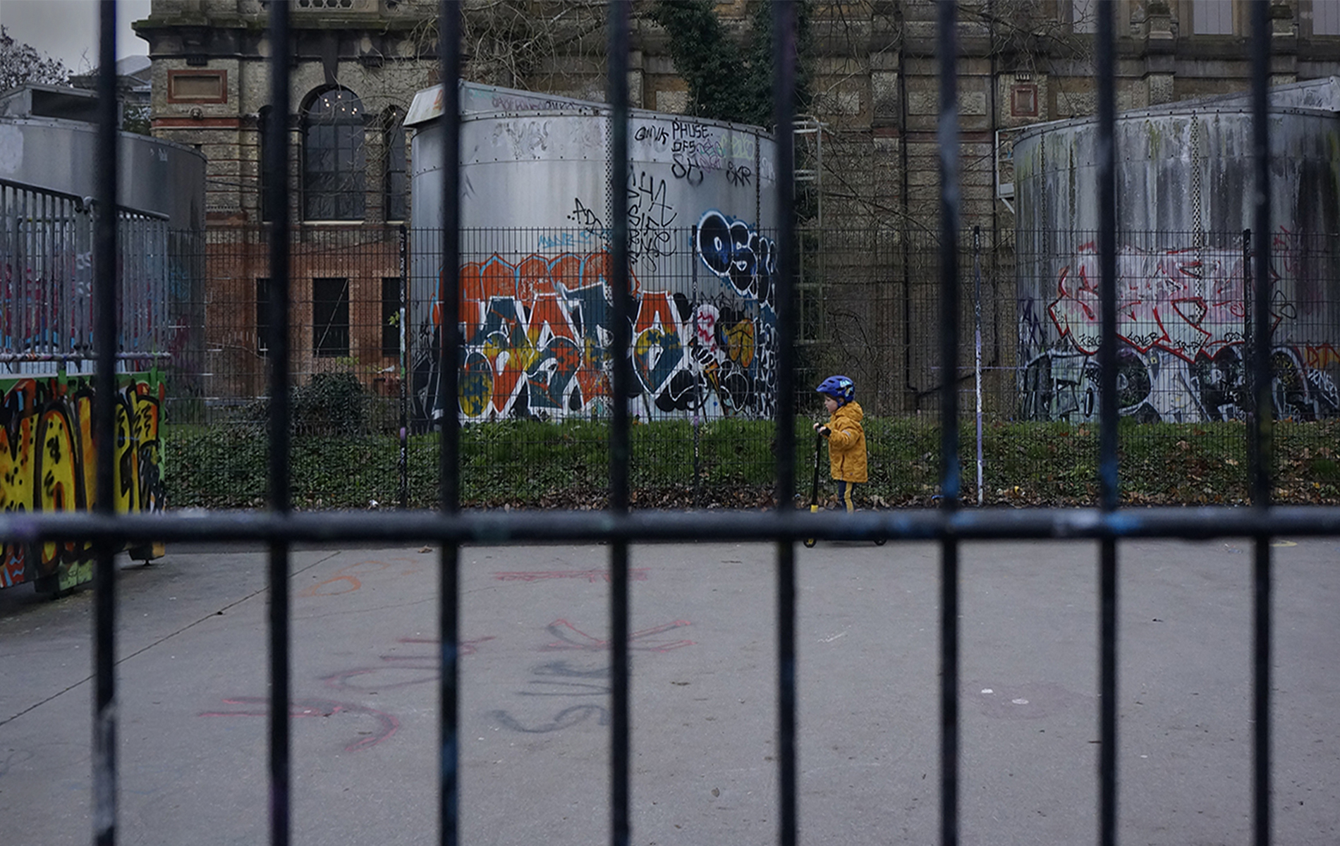 Boy in a cage, Alexandra Palace