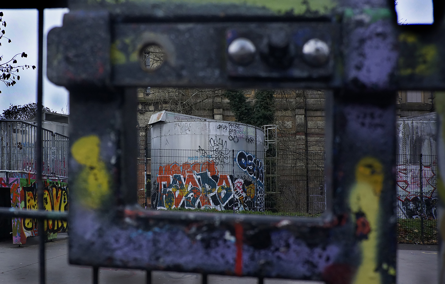 Frame lock, Alexandra Palace. 2020