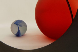 Red Marble & Blue marble