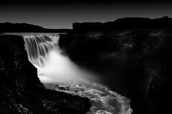Dettifoss in darkness, Iceland