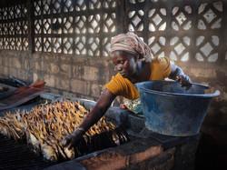 Smoking Her Fish , The Gambia