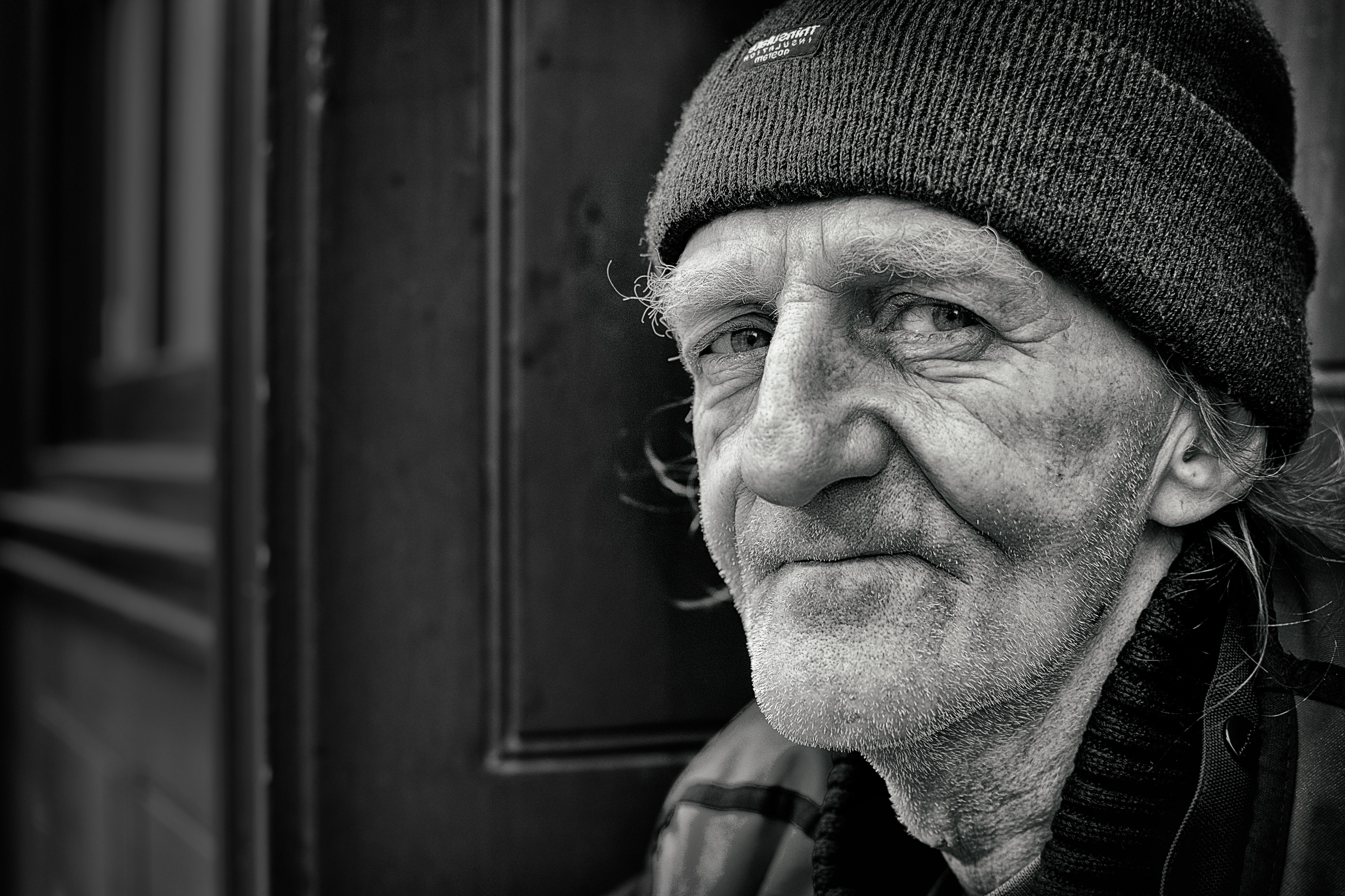 Gentleman Sitting in Doorway