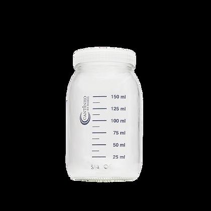 Potes para 150 ml . Ideal para armazenar leite .