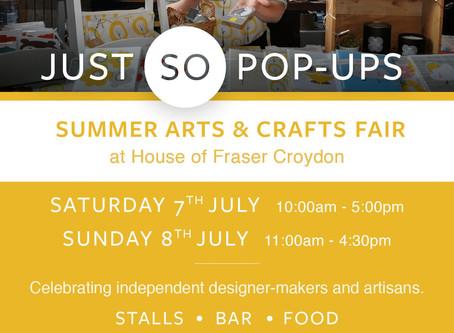 Let's Meet In Summer Arts & Crafts Fair, Croydon: Weekend Event 7-8 July 2018