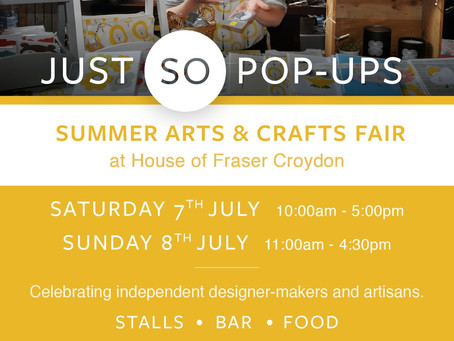 Let's Meet In Summer Arts & Crafts Fair, Croydon: Weekend Event 7-8 July 2018