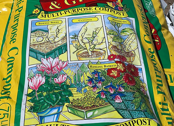 Pot Bedding Compost Bloom and Gro 75L Single Bag