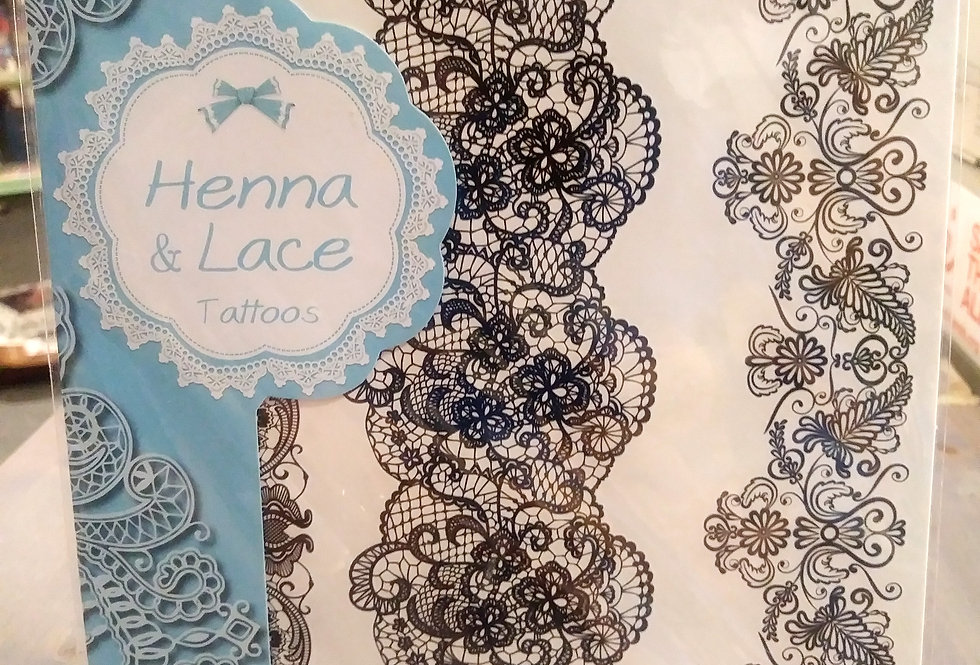 Henna and Lace Temporary Tattoos