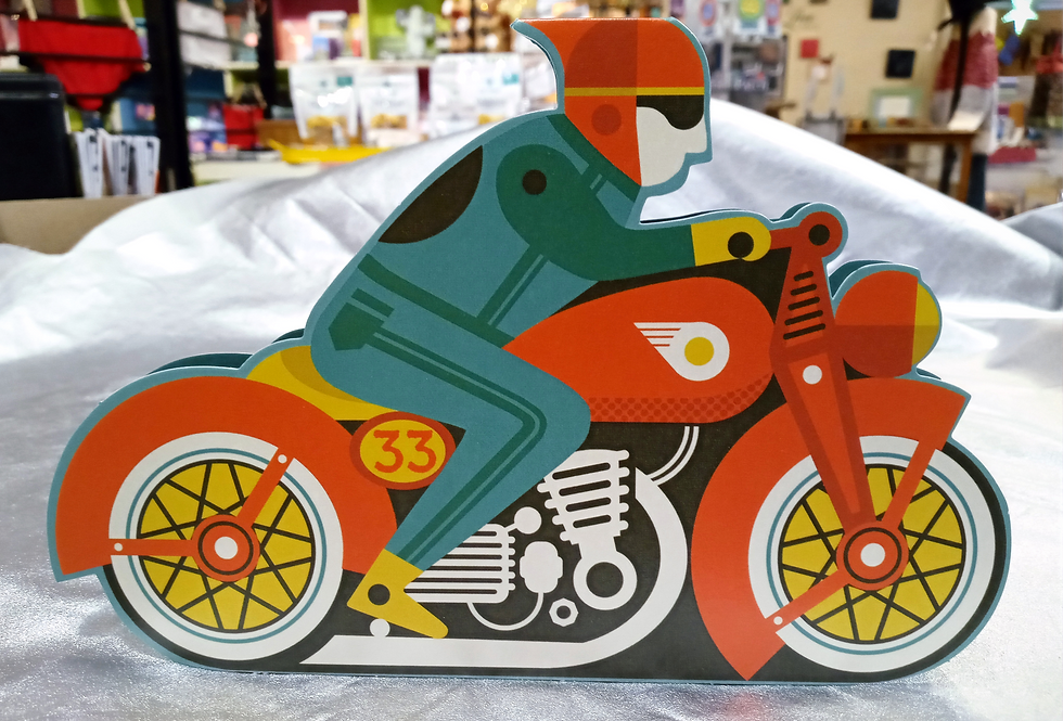 Motorbike Stand-Up Card