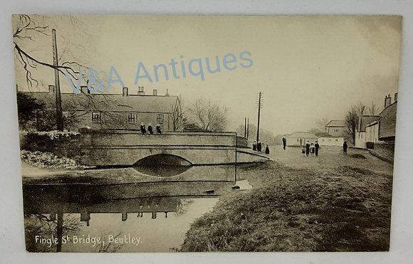 Original Postcard Fingle Street Bridge (Finkle) Bentley Doncaster
