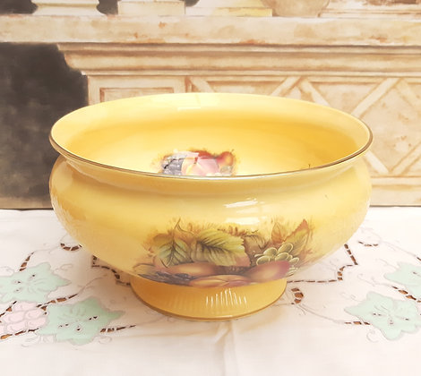 """Aynsley Orchard Gold Dovedale fruit bowl 9"""""""