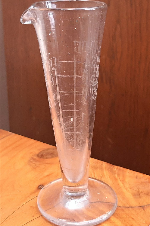 early 20thC Glass Measure Hand Etched George V