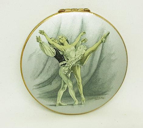 Stratton Marquis Open Hand Compact Ballet Ballerinas Cecil Golding