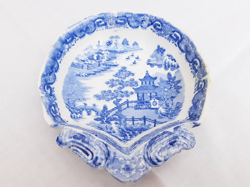 c1810 Spode Pearlware Shell Dish Flying Pennant