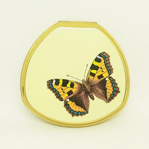 Stratton Shell Convertible Cream Enamel Butterfly