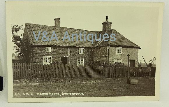 ELS RP Postcard Manor House Austerfield Doncaster