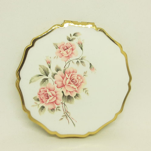 Stratton Princess Pink Rose Compact 1960s Complete Unused