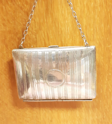 1930s Silver Plated Dance Purse