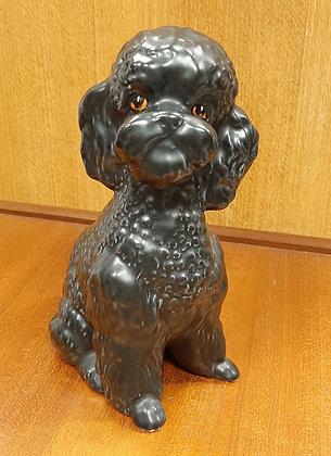 SylvaC Large Sitting Poodle 5031 Black Gloss