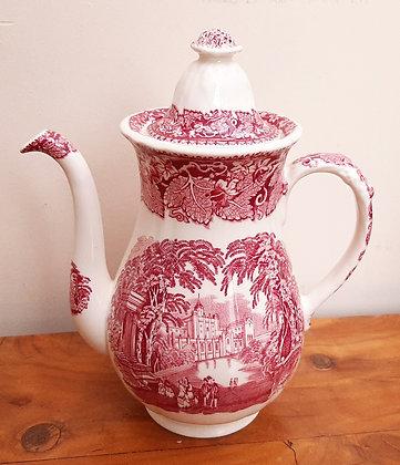 Mason's Pink Vista Coffee Pot